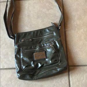 Olive green cross body purse